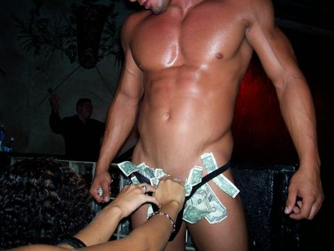 male strippers briefs full of money