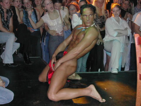 male exotic dance at the club