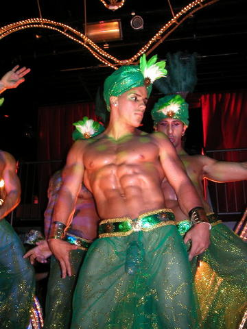 male exotic dance naked with erected cock