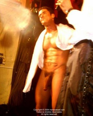sexy male stripper showing big cock