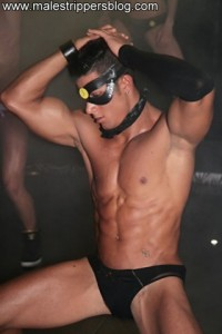 Very beautiful muscle male stripper