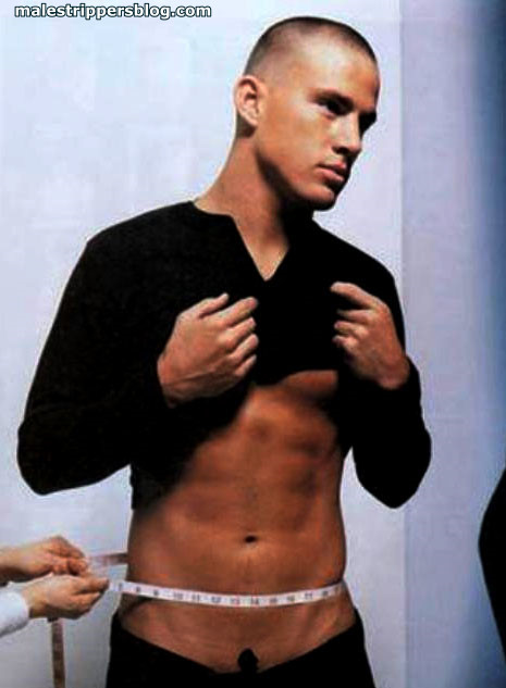young channing tatum waist measuring