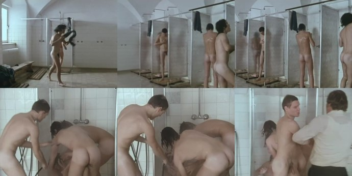 Naked schoolboys showering