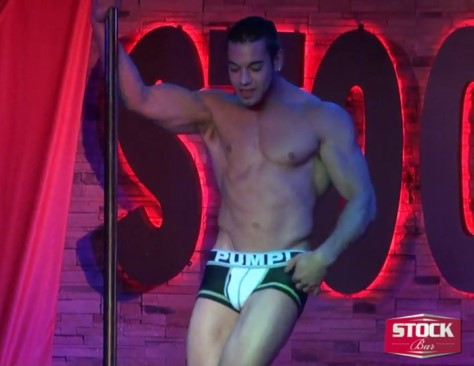muscled guy stripper