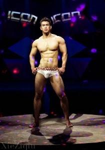 asian muscle striptease dancer