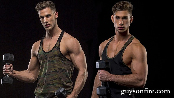 two muscle guys