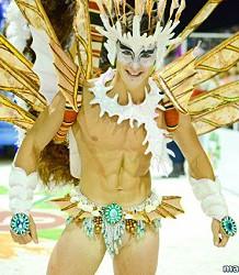 Charming carnival man