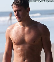 Channing Tatum on the beach