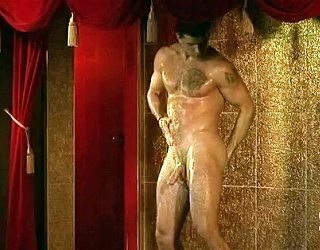 naked muscle man shower strip