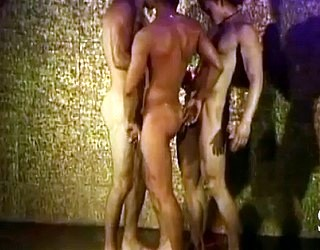 naked men striptease under shower