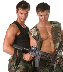 Military Bel Ami Twins