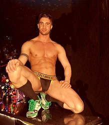 Hunky gay stripper Alex