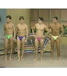 Muscle men in speedos