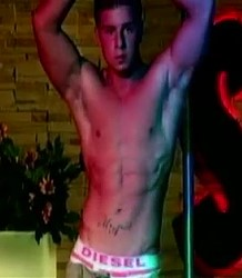 Seductive male stripper Dylan