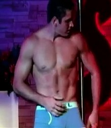 Hunky male stripper
