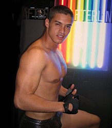 Tempting Italian gay stripper